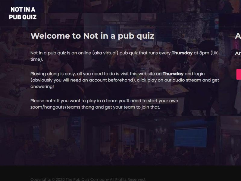Not in a pub quiz